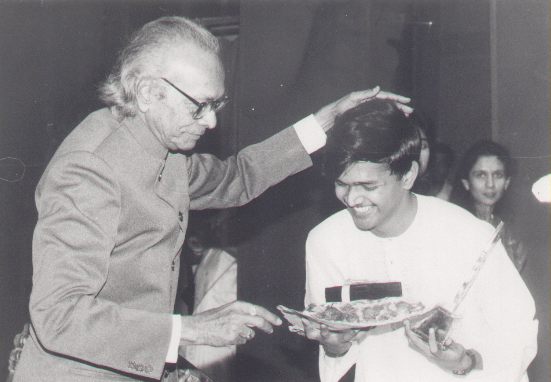 Receiving award from Naushad Ji
