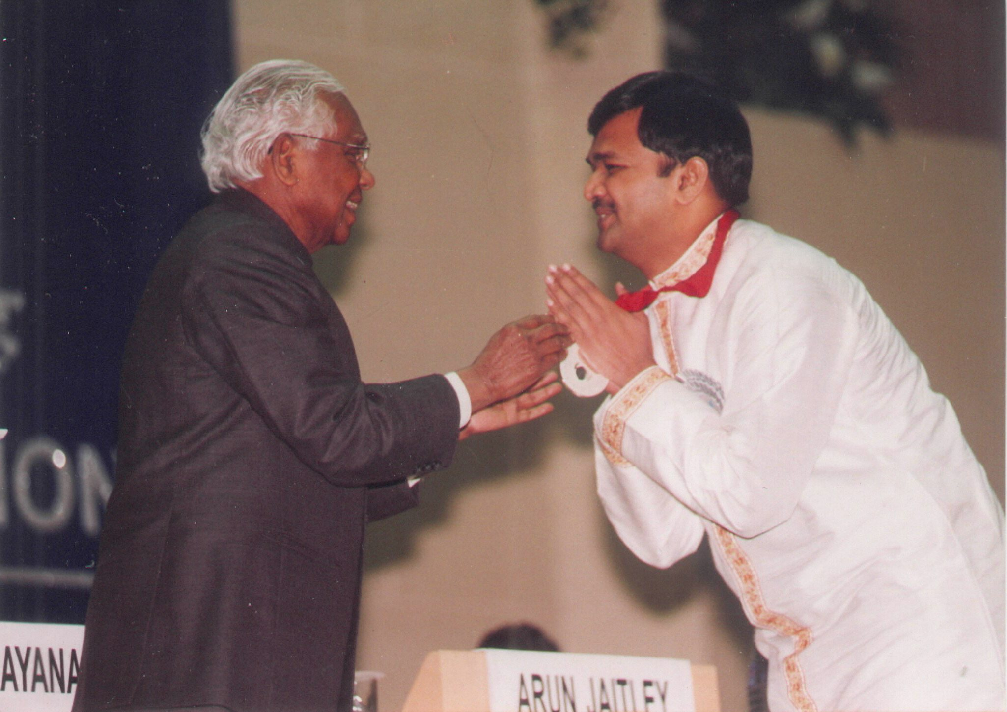 Receiving National Award from then President of India Hon Shri K.R.Narayanan